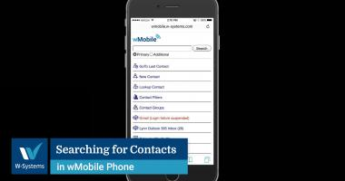 Searching for Contacts in wMobile Phone