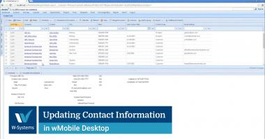Updating Contact Information in wMobile Desktop