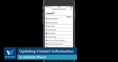 Updating Contact Information in wMobile Phone