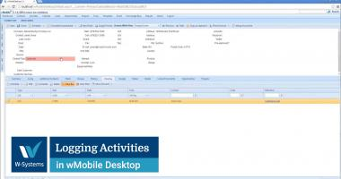 Logging Activities in wMobile Desktop