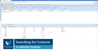 Searching for Contacts in wMobile Desktop