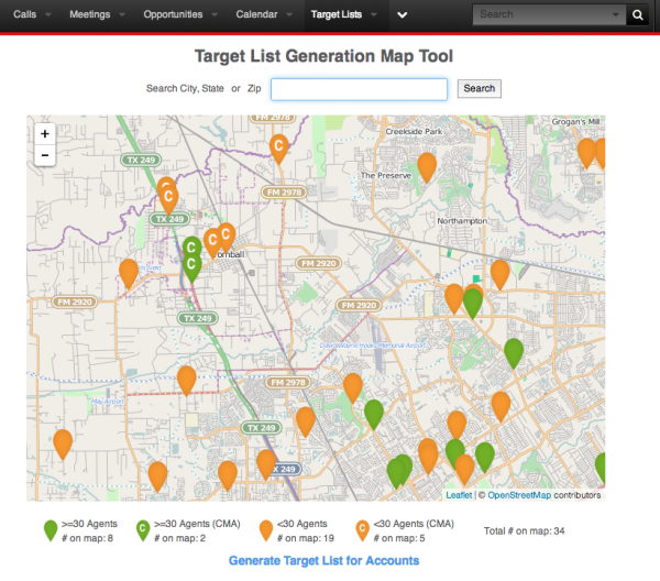 Target List Generation Map Tool