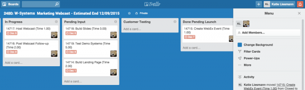 Project Management Integration to Trello