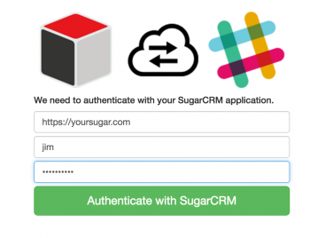 Authenticate to Sugar for Slack