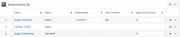 Tracking Subscriptions in SugarCRM