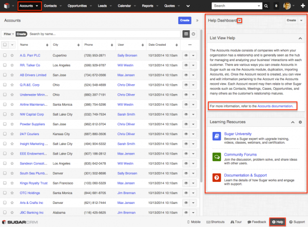 Dynamic Dashlets for List View in SugarCRM | W-Systems