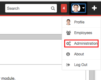 Administration tab in SugarCRM