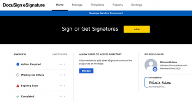 DocuSign enables you to set up virtual witnesses for sensitive documents and deeds signature.