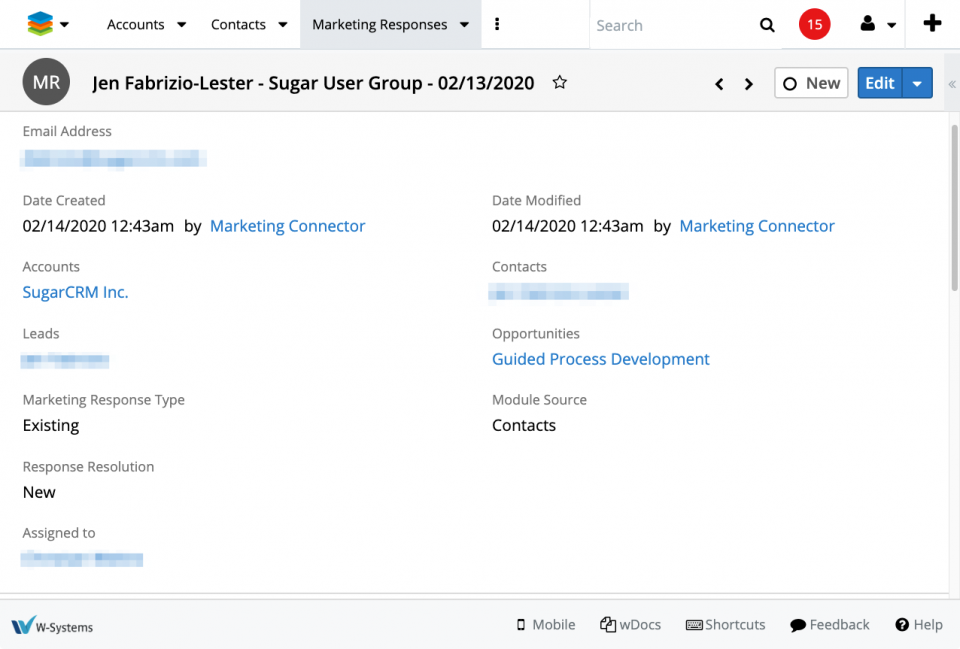 The Marketing Responses enhancement for SugarCRM lets your sales team know where a marketing interaction is coming from, whether it is a first interaction or one in a series for a lead or contact, and more.
