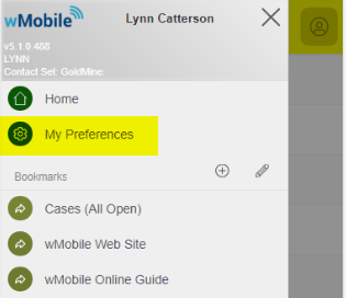 Access My Preferences