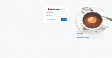 SugarCRM Login Page