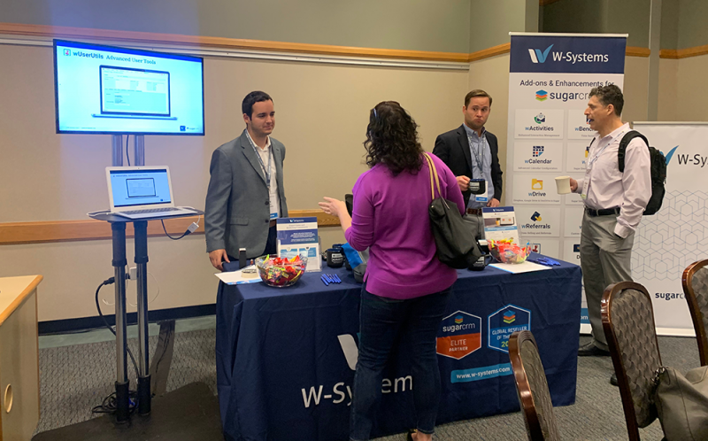 W-Systems booth at the SugarCRM SugarConnection Boston 2019