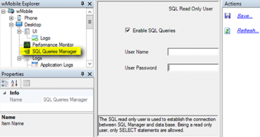 wMobile SQL Queries Manager