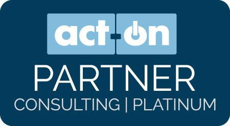 Act-On Partner Badges Platinum Dark Blue Graphics