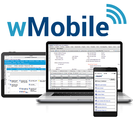 wMobile for tablet, laptop and mobile Logo Graphics
