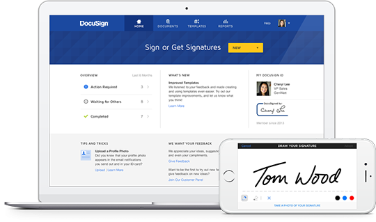 DocuSign Electronic Signature for Desktop and Mobile