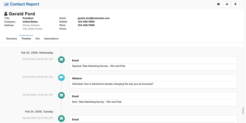 Act-On Inbound Marketing Screenshot