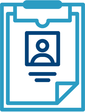 Document on a clipboard icon