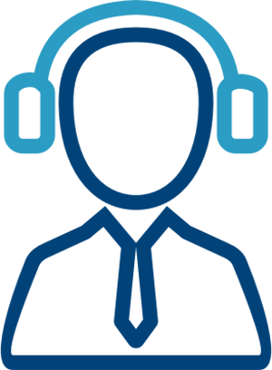 Man with headphones icon