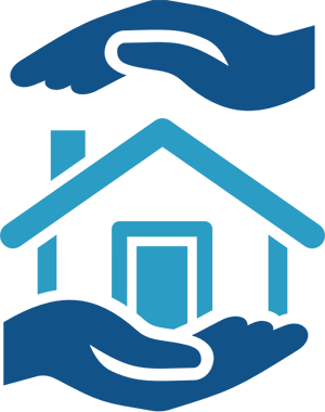 House and hands icon
