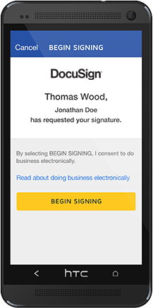 DocuSign Mobile SDK - Quickly integrate DocuSign technologies into your app or website – your way.