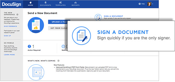 DocuSign supports virtually any type of document file type from most applications – like Microsoft Word, Excel, and PowerPoint – to ensure all your important documents can be sent for signature. DocuSign even recognizes PDF documents and automatically