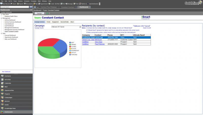 W-System helps companies to set up, implement and train on GoldMine CRM.