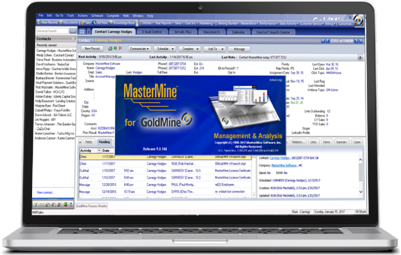 MasterMine for GoldMine CRM