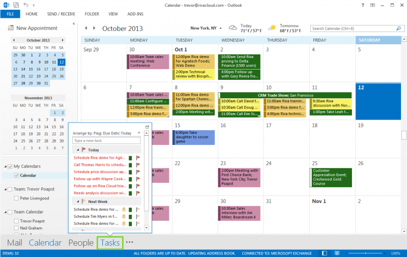 Riva CRM Integration: Sync Calendar Events