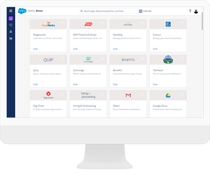 Intranet made with Salesforce Lightning Platform