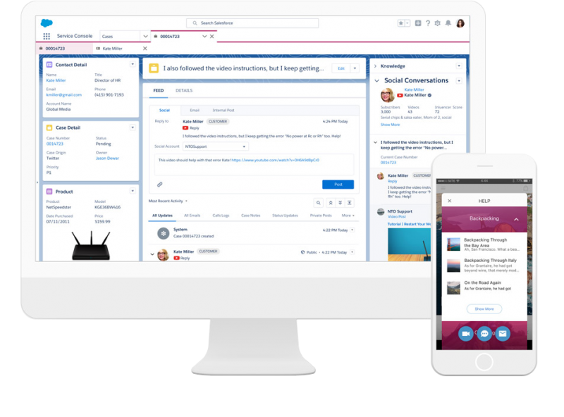 Digital Channels Support by Salesforce Service Cloud