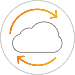 Cloud continuity icon
