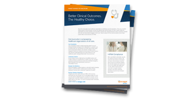 Vonage for Healthcare datasheet flyer