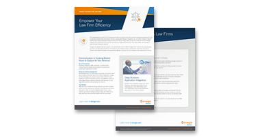 Vonage for Law Firms datasheet flyer