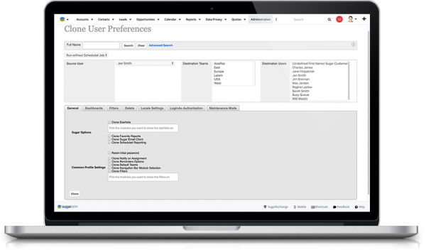 wUserUtils Advanced User Administration for SugarCRM