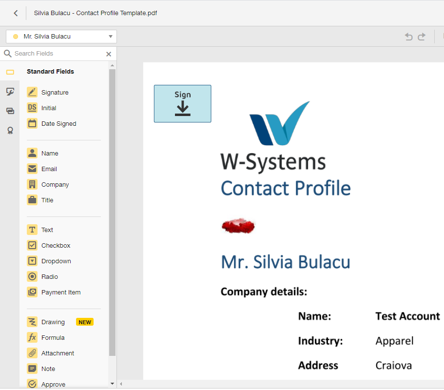 Sign documents with DocuSign