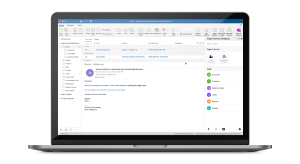 SugarConnect, formerly known as Collabspot G Suite and Collabspot Office 365, is part of the SugarCRM suite of customer experience management (cxm) applications.