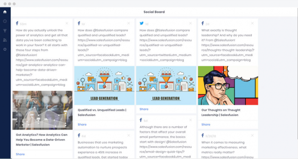 Oktopost Social Board | social media management tools
