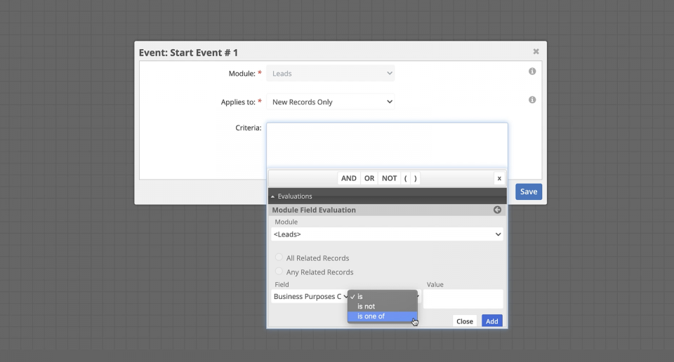 In SugarBPM, you can leverage multiselect fields using the