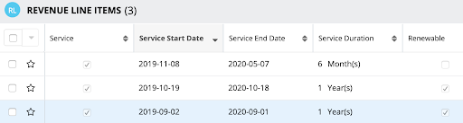 Duration-Based Products screenshot in SugarCRM