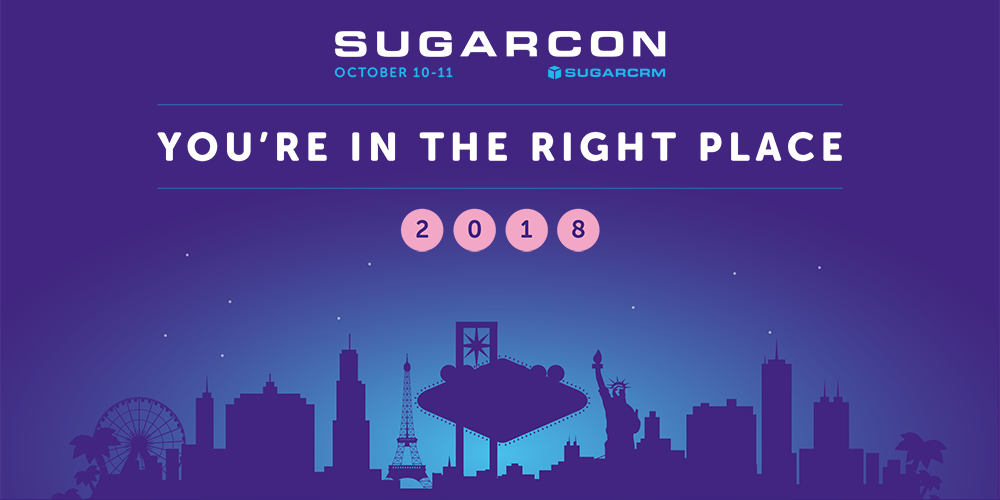 SugarCon 2018 in Las Vegas, on 10 - 11 October. Organized by SugarCRM.