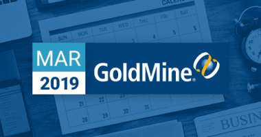 GoldMine CRM newsletter for March 2019