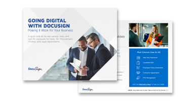 Going Digital With DocuSign: Making it Work for Your Business ebook cover