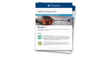 W-Systems CRM for Manufacturing datasheet