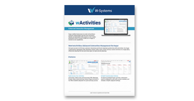 wActivities for SugarCRM Datasheet Cover