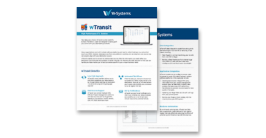 wTransit can help you solve your business' data-based challenges.