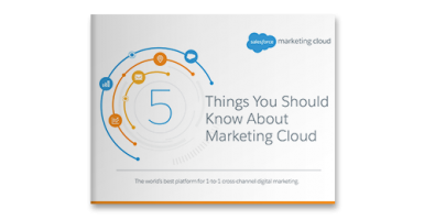 5 Things You Should Know About Marketing Cloud ebook cover