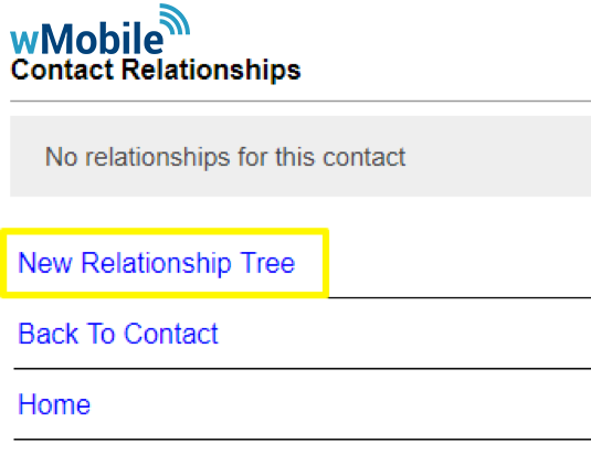 wMobile Relationships: New Relationship Tree