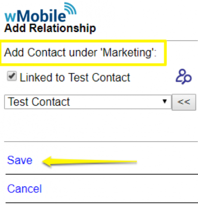 wMobile Relationships: Add Contact
