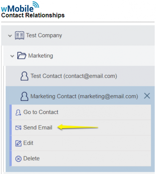 wMobile Relationships: Send Email